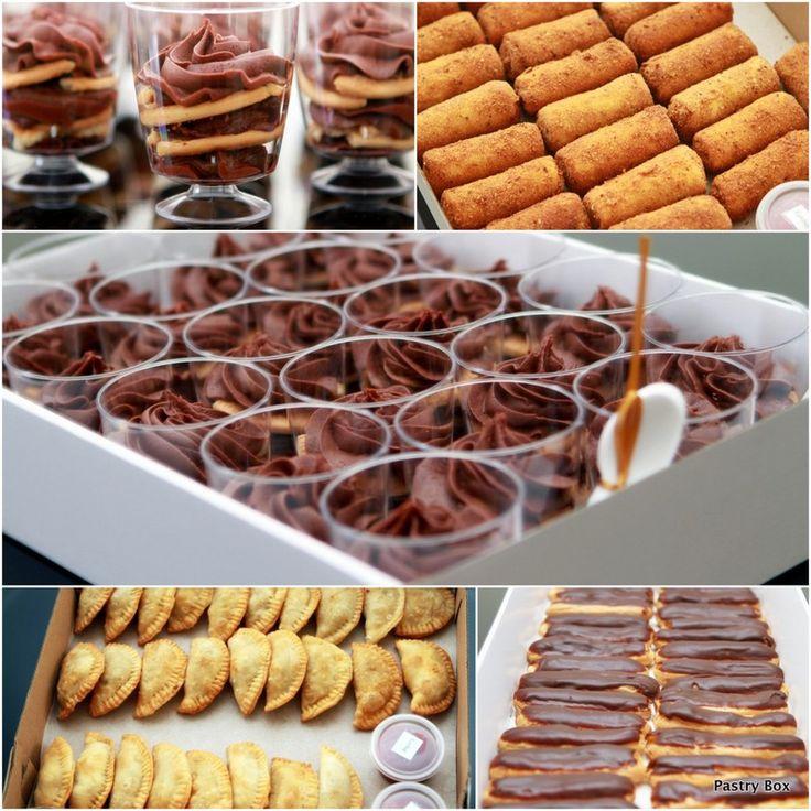 Sri Lankan Finger Food Boxes #srilankanshorteats #fingerfood #srilanka #patties #rollls #éclairs #minichocolatebiscuitpudding