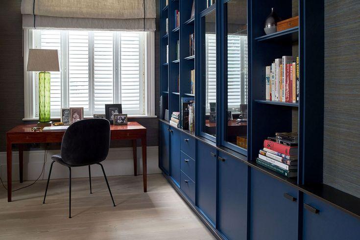Robinson van Noort - Contemporary Residential Design, London - Barnes, London  #livingroom #study #homeoffice #bookcase #joinery #robinsonvannoort #interiordesign #refurbisment #interiorarchitecture #residential #twohousesputtogether
