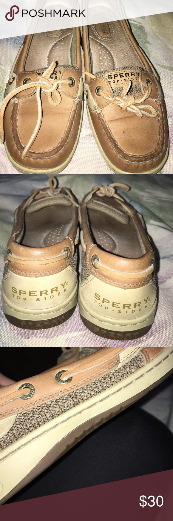 Tan sperrys A little bit dirty but i will clean them for you. Sperry Top-Sider Shoes Sneakers