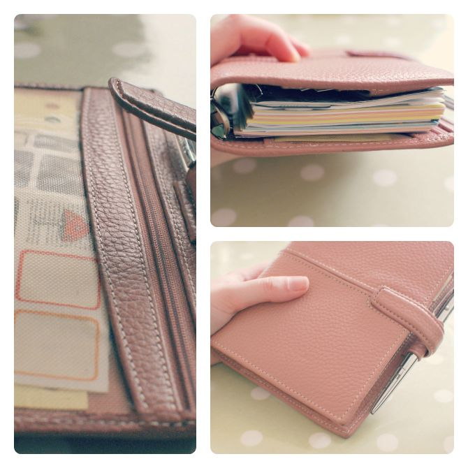 Filofax Personal Finchley in Vintage Rose
