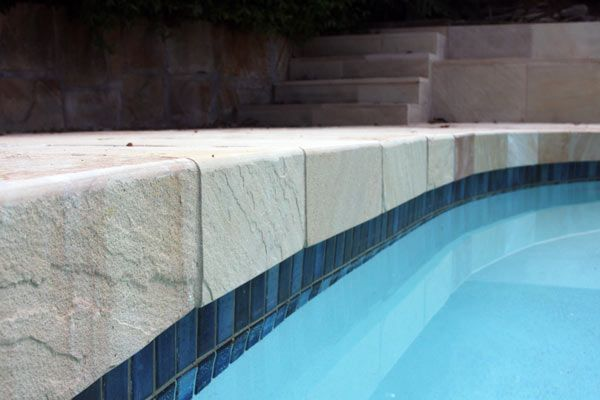 Custom made Himalayan Sandstone Bullnose, for more info go to www.gaiastone.com.au