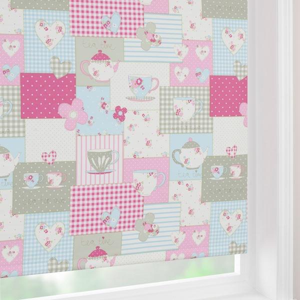 Fryett S Fabrics Dunelm Mill Pink Tea Time Blackout