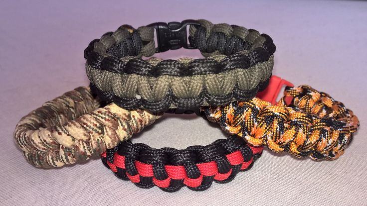 Cobra, fishtail and checkerboard bracelets