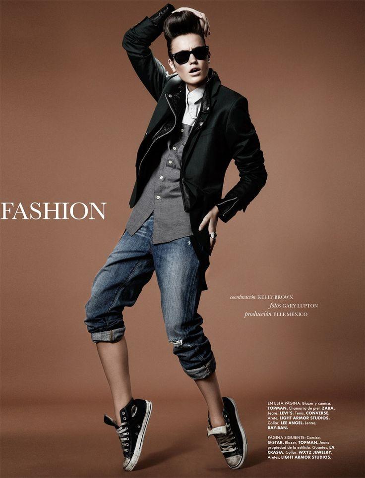 """Fashion Rocks"" : Keilani Asmus (Wilhelmina NY) by Gary Lupton for Elle Mexico February 2013"