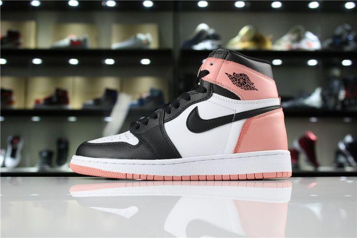 0a7921ad0bdb Original Air Jordan 1 Retro High OG NRG White Rust Pink Black Cheap Sale