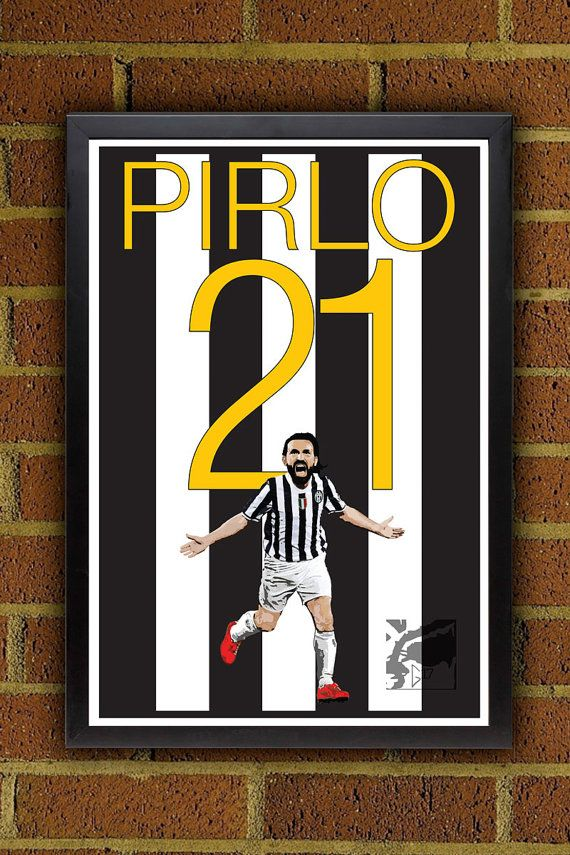 Andrea Pirlo 21 Juventus Poster  #seriaA #italia #pirlo