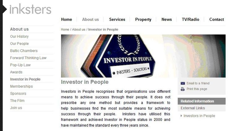 Inksters Solicitors are an Investor in People
