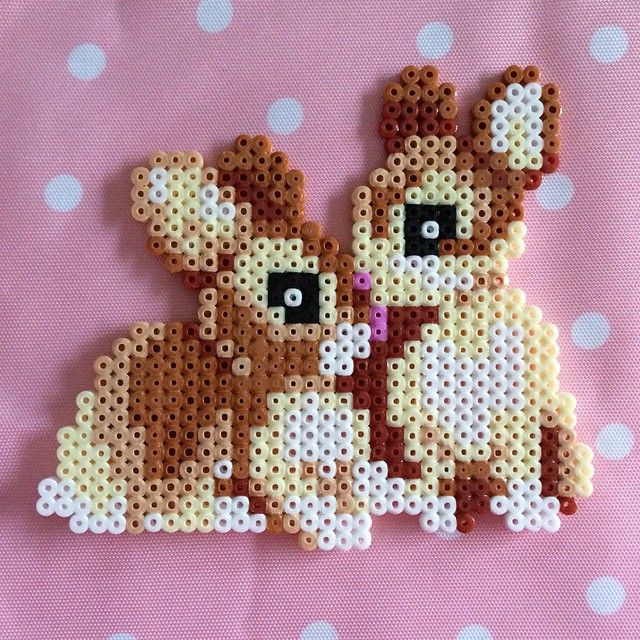 Bunnies hama beads by Emily Hollin More