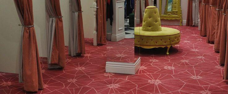 Glassons, Queen Street: Custom Designed Axminster carpet by Irvine Flooring