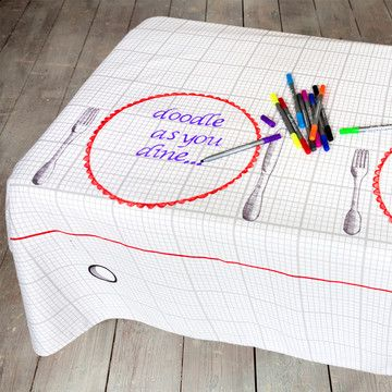 Doodle Tablecloth Large