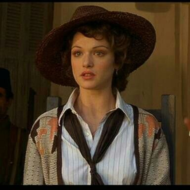 Rachel Weisz in The Mummy. This was supposedly pre-WWI.  I just loved her look in this scene.  So romantic!