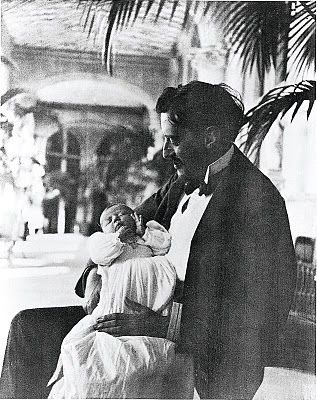 George Vanderbilt with little Cornelia. Sweet pic