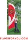 Maryland Terrapins Tall Team Flag 8.5' x 2.5'