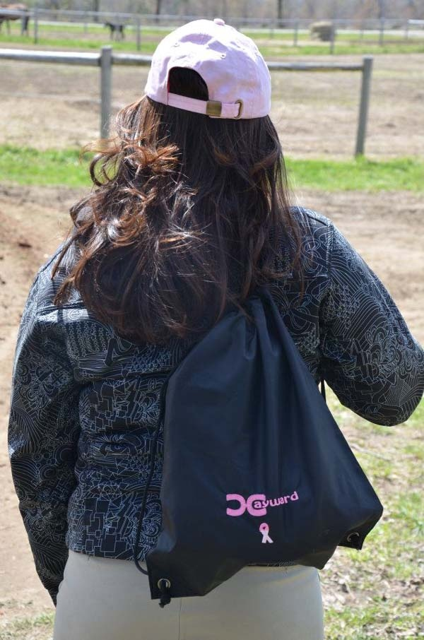 """Nap Sack for the Cure"" *** also works as a helmet bag**** $19.99 - For ordering information email rhonda@hay-ward.com"