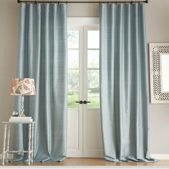 Pottery Barn Silk Dupioni Curtains June St Master
