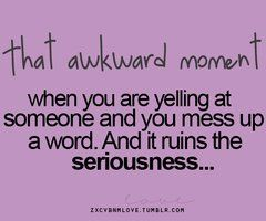 Haha!! reminds me of arguing with my brother and sister! One of us would always get flustered and say something that didn't make sense.. it was part of why we always ended up laughing!