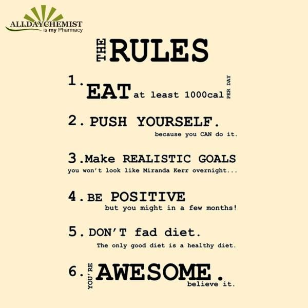 Simple Rules For A Healthy Life! Share And Spread The