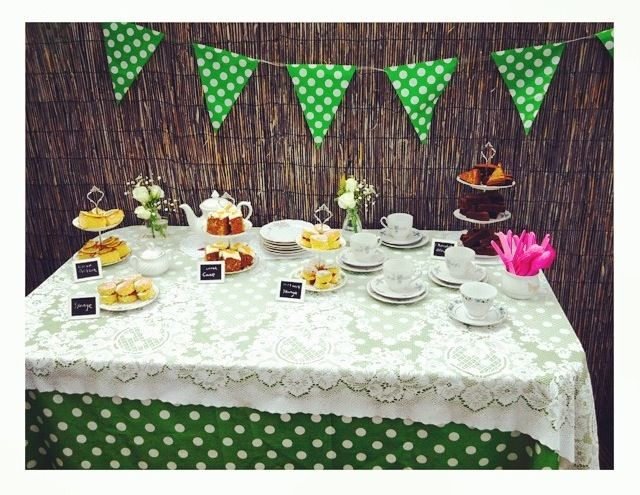 Tea party for my friends birthday in the summer