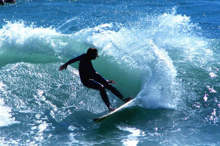 Surfing in Raglan, New Zealand