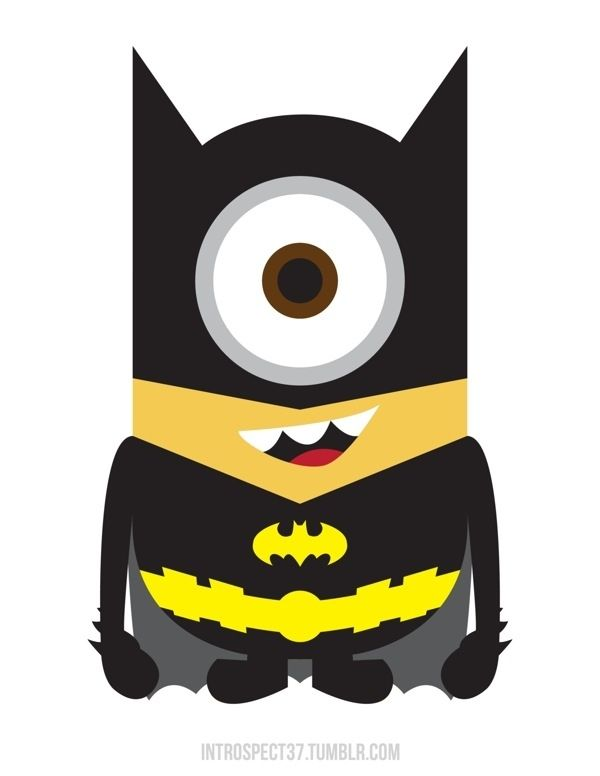 """Despicable Me"" Minions as BATMAN!! : O.... Pinned to show my son, a few of his favorite things...super hero and despicable me."