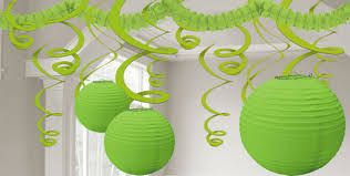 Pic-4 Green theme monsoon kitty party wall decor ideas