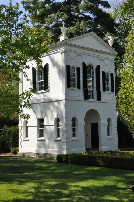 Summerhouse Garden Folly --- Lake Forest / replica of the 1793  Summerhouse Folly designed by Samuel McIntire for Captain Elias Hasket Derby, located in Danvers, Massachusetts