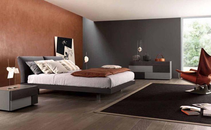 """Rialto suggerisce una confortevole modernità, sia per il disegno """"minimal"""" e sospeso da terra, sia per l'ergonomia della testiera imbottita e reclinabile a frizione. Ciascuno sceglie la posizione ottimale!!! #bedroom #showroom #rossimobili #botticino"""