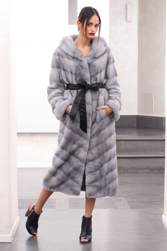 Pelliccia cappotto di pelliccia cappotto visone Sapphire Fur Coat Pelliccia Mink pelliccia норка