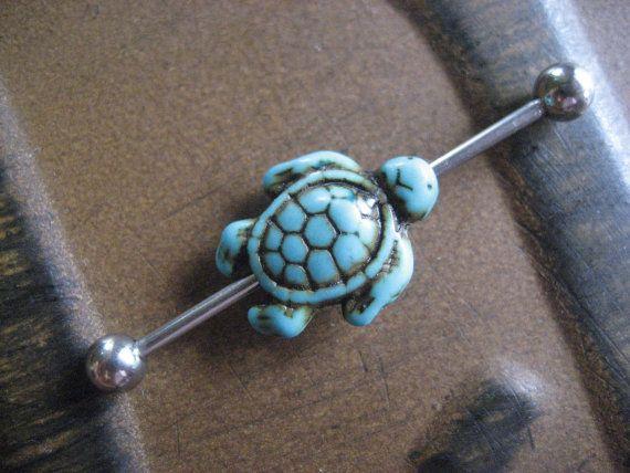 Joyería del anillo turquesa mar tortuga por AzeetaDesigns en Etsy