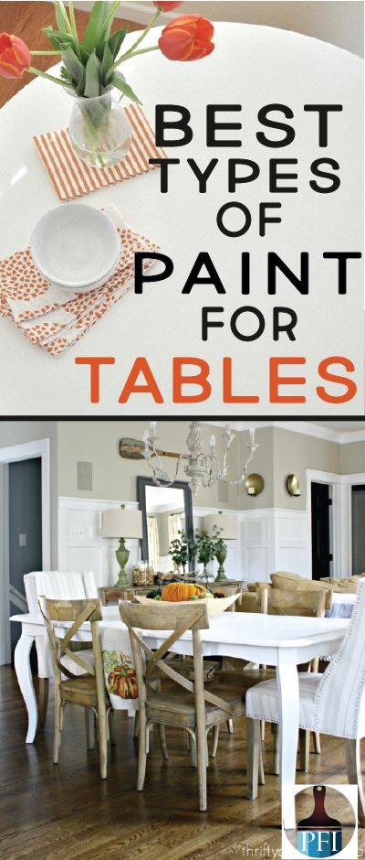 There are four main types of paints you can use to paint your kitchen table. We'll review all four options and you can make the choice!