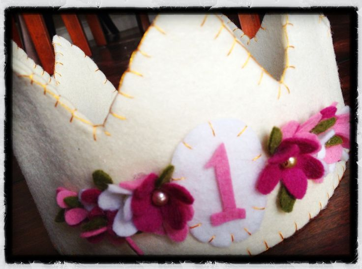 Floral Felt Birthday Crown by LilSugarBowtique on Etsy, $32.00