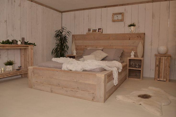 Prachtig & heerlijk steigerhouten bed