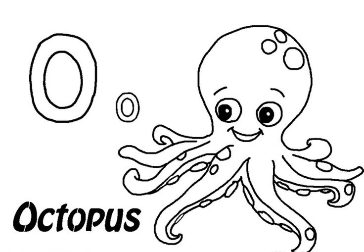 o is for octopus coloring pages - photo #14