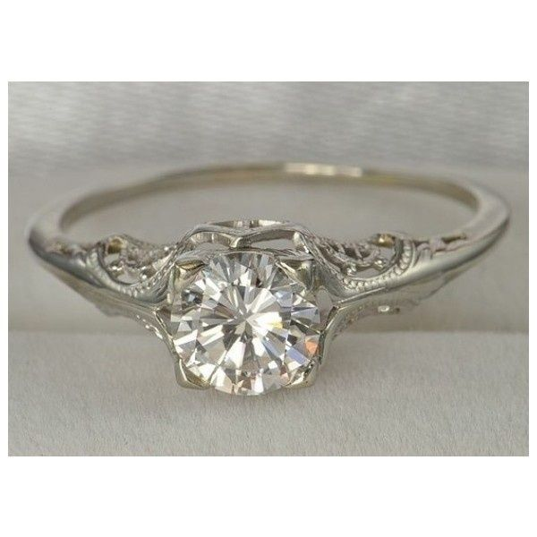 vintage wedding ring i like the ornate but simple band and single diamond and - Simple Wedding Ring