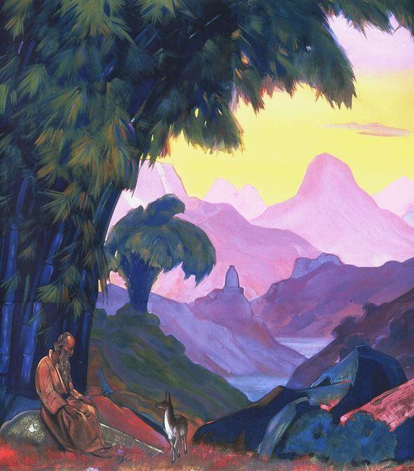 Святослав Рерих. Духовное искусство. Куда идешь, брат мой... 137х122 Холст, темпера. 1938 Svetoslav Roerich