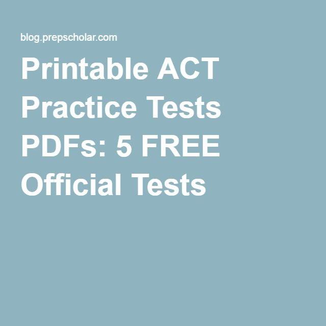 Free act math practice test printable
