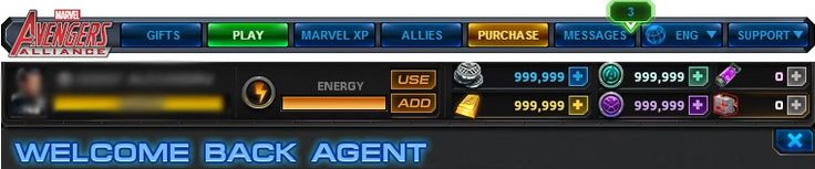 Marvel Avengers Alliance hack cheat - unlimited gold, shield, command points, energy, silver coins