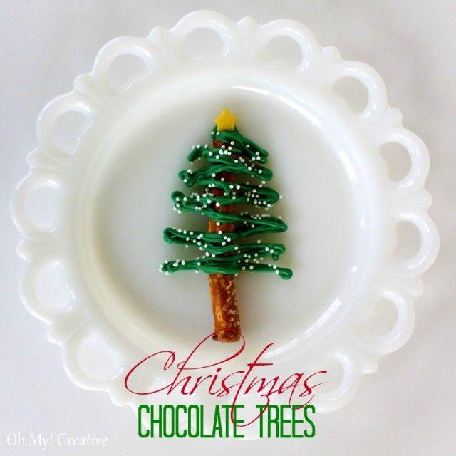 Chocolate-pretzel-Christmas-Trees-1-burst-e1355107045435