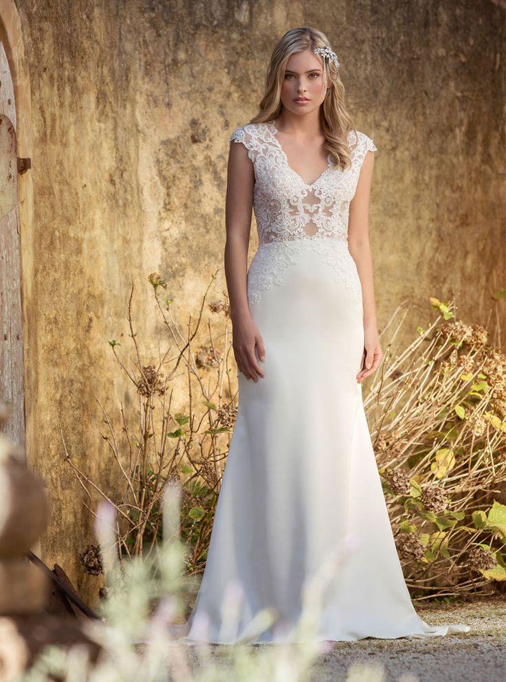 17 best ruffled dresses images on pinterest wedding for Bohemian style wedding dresses for sale