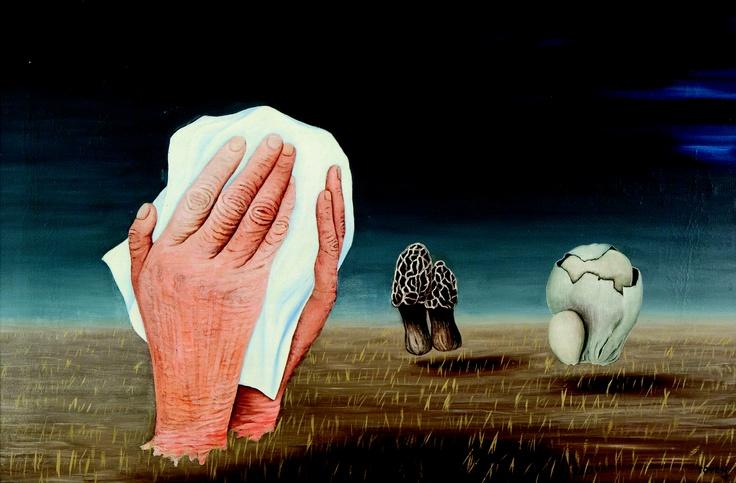 Toyen - Smutný den / Sad Day, 1942, oil on canvas $600000
