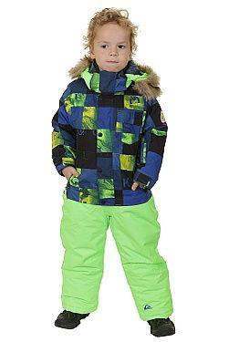 kombinéza Quiksilver Rookie Kids Suit - BQZ2/Check Kasper Snow Blue