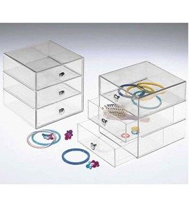 Three-Drawer Acrylic Storage Chest Image
