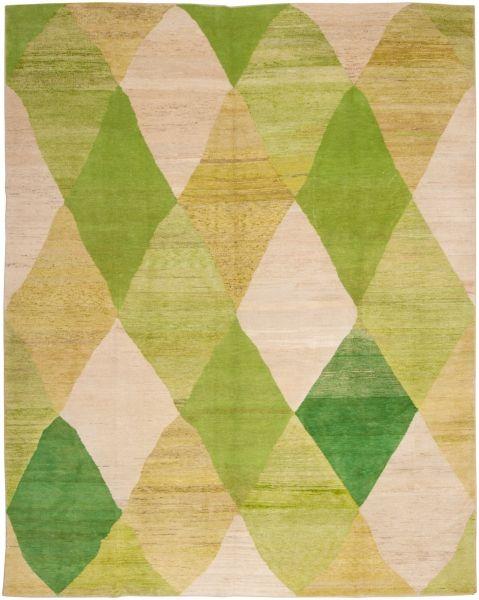Loom - 3040 Old Yarn Rug Green 303x382cm