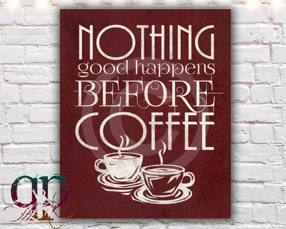 coffee poster typographic print kitchen by QuotablePrintables, $5.00