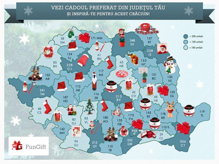 FunGift.ro s-a gandit sa iti vina in ajutor cu un mic ghid cu cadourile preferate din fiecare judet in parte!
