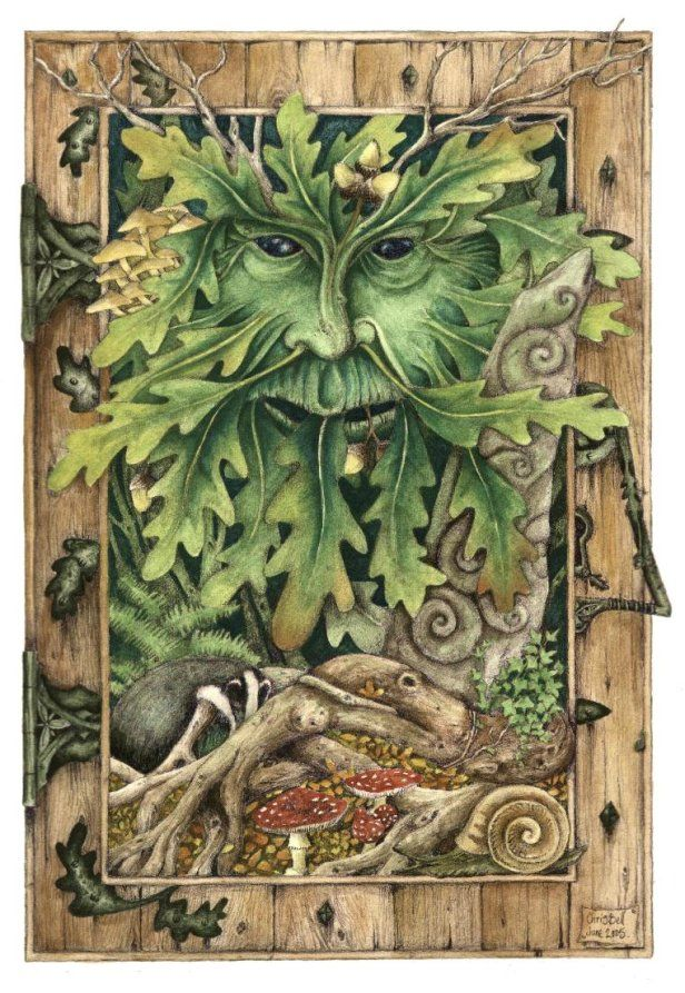 I love the way the Green Man is worked into this door!   The Oak Door by Christopher bell