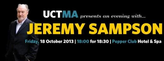 FACTS | Interbrand Sampson #UCTMA presents an evening with #JeremySampson