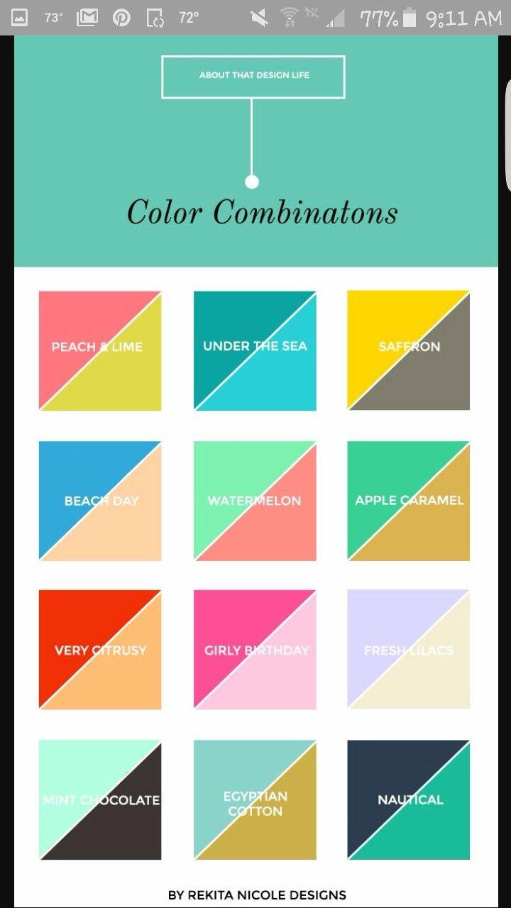 9 Best Creative Color Schemes Images On Pinterest Colour
