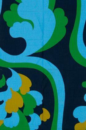 Porin puuvilla  fabric design Juhani  Konttinen 1967-69