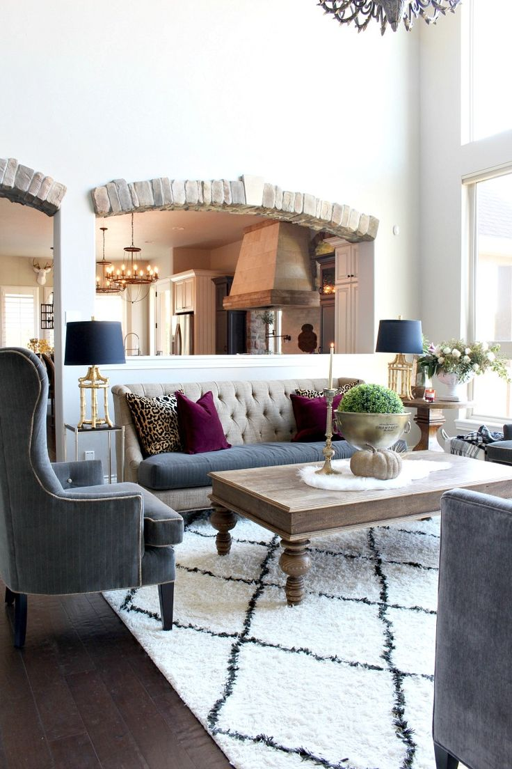 The House of Silver Lining: Glam Cozy Fall Living Room